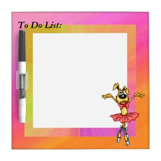 Ballerina Dog To Do List Dry Erase Board