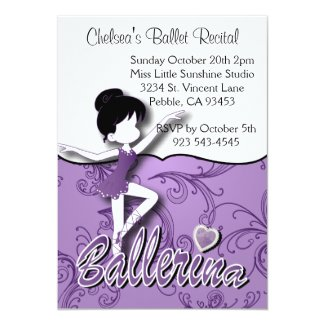 Ballerina Doll | Amethyst Purple |Personalize Cards
