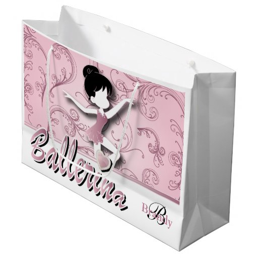 Ballerina Doll | Pink Tourmaline | Personalize Large Gift Bag