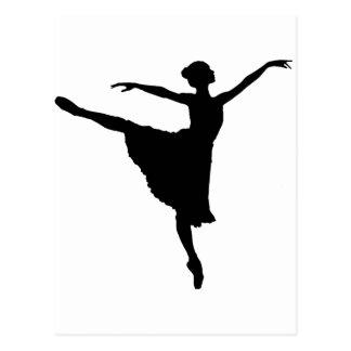 BALLERINA En Pointe (Ballet Dancer silhouette) ~.p Postcard