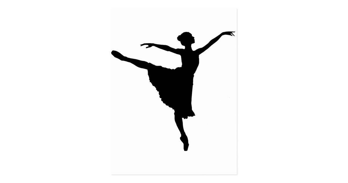 Ballerina En Pointe Ballet Dancer Silhouette P Postcard Zazzle Com