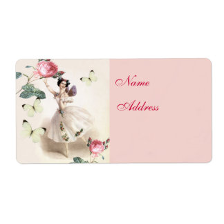 Ballerina Fairy Address Label