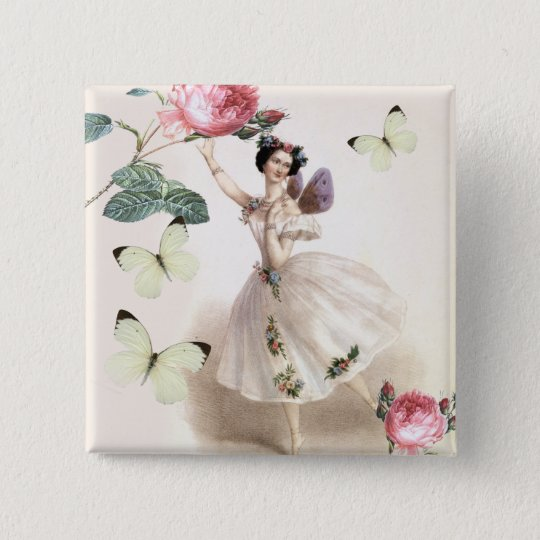 Ballerina Fairy Button