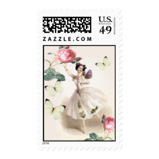 Ballerina Fairy Postage Stamps