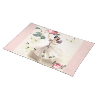 Ballerina Fairy  with pink borders Placemat
