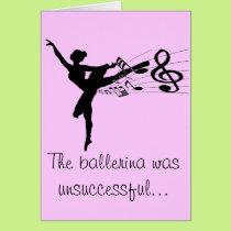 Ballerina Fart Card