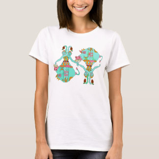 Ballerina feeding French Fries to  a Cow Tee Shirt