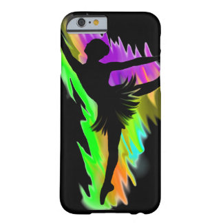 ballerina, female dancer, on tip toes, rainbow barely there iPhone 6 case