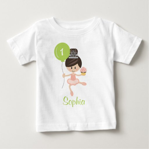 Ballerina First Birthday T-shirt 1st