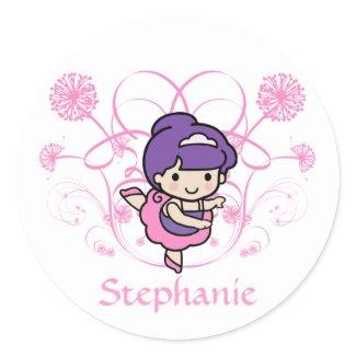 Ballerina Floral Sticker sticker