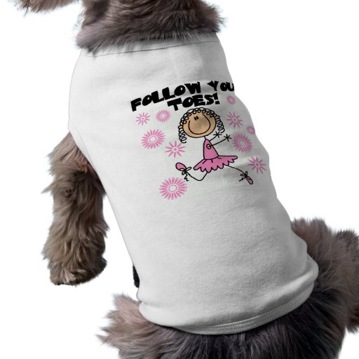 Ballerina Follow Your Toes T-shirts and Gifts Pet Clothes