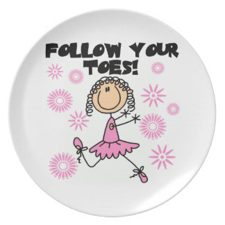 Ballerina Follow Your Toes T-shirts and Gifts Plate