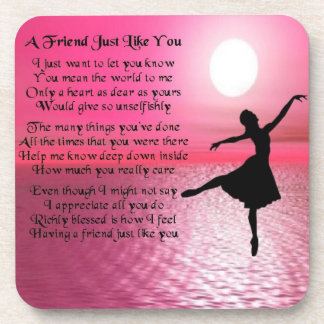 Ballerina - Friend Poem Coaster