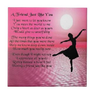 Ballerina - Friend Poem Tile