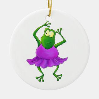 Ballerina Frog Ornament