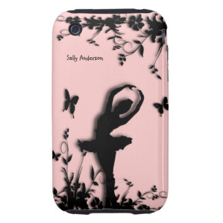 Ballerina Garden Pink Personal iPhone 3G/3GS Case iPhone 3 Tough Covers