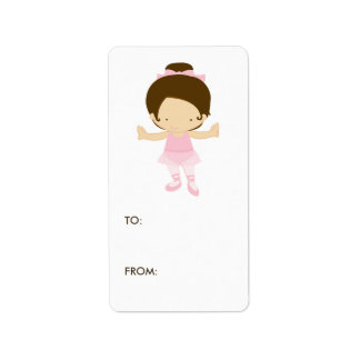 Ballerina Gift Tag Labels
