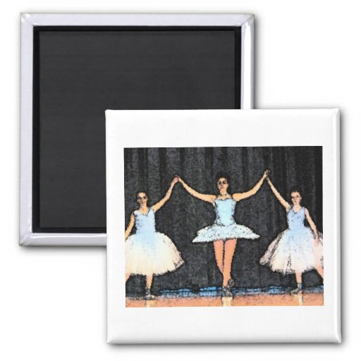 Ballerina Gifts 2 Inch Square Magnet