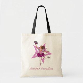 "Ballerina girl ""add your name"" pink ballet bag"
