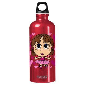 Ballerina Girl Aluminum Water Bottle