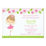 Ballerina Girl Birthday Party Invitations Personalized Invite