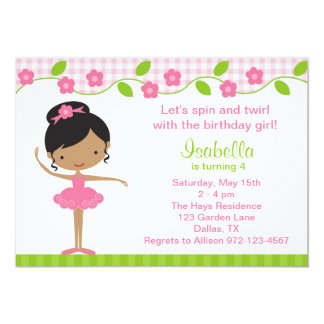 Ballerina Party Invitations Announcements Zazzle