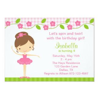 Ballerina Birthday Invitations Announcements Zazzle