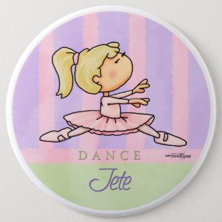 Ballerina Girl Button
