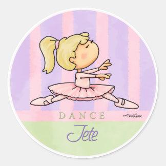 Ballerina Girl Classic Round Sticker