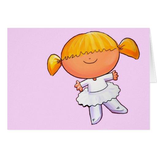 Ballerina Girl - Customize Greeting Card