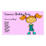 Ballerina Girl - Customized Double-Sided Standard Business Cards (Pack Of 100)