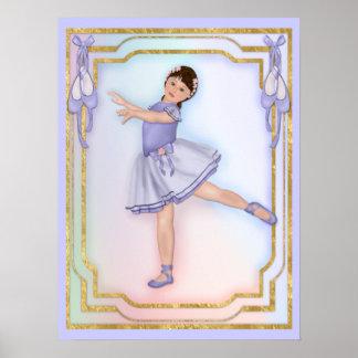 Ballerina Girl Dancing Poster