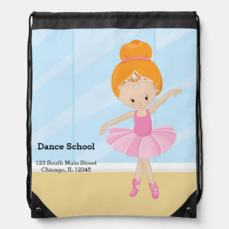 Ballerina girl drawstring bag