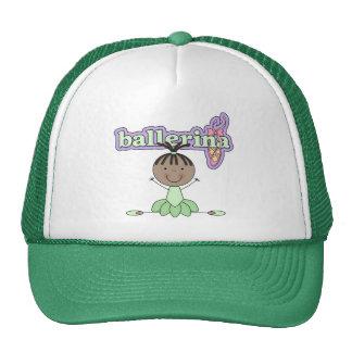 Ballerina Girl Green Trucker Hat