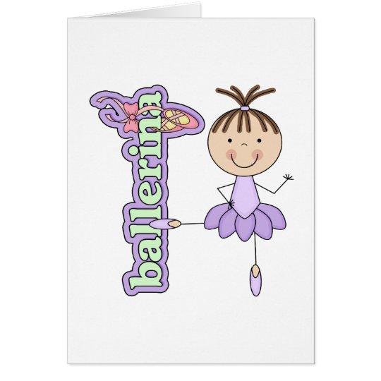 Ballerina Girl Lavender Card