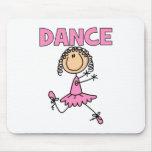 Ballerina Girl Mouse Pads