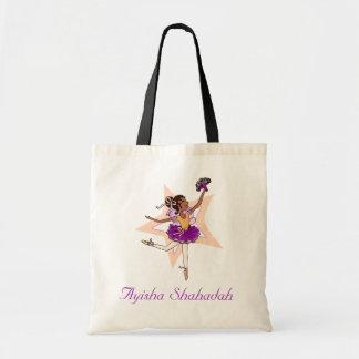 """Ballerina girl """"name"""" dark hair ballet bag"""