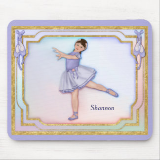 Ballerina Girl Pastel Mouse Pad