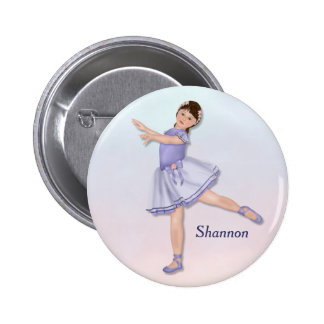 Ballerina Girl Pastel Pinback Button