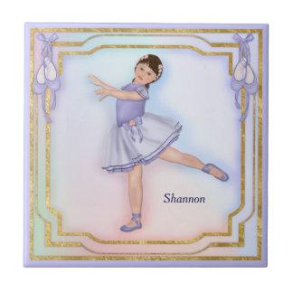 Ballerina Girl Pastel Tile