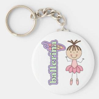 Ballerina Girl Pink Keychains