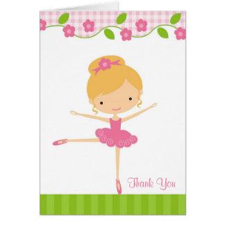 Ballerina Girl Thank You Card