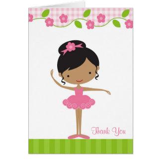 Ballerina Girl Thank You Card Card