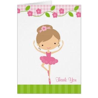 Ballerina Girl Thank You Card Cards