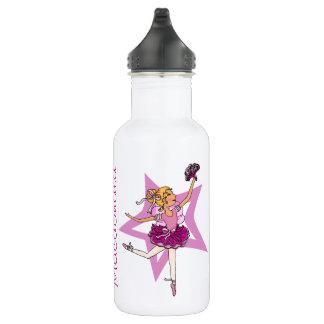 Ballerina girls named purple drinks bottle 18oz water bottle