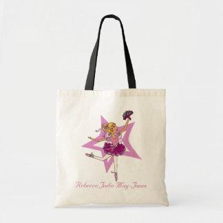 Ballerina girls personalized name pink ballet bag