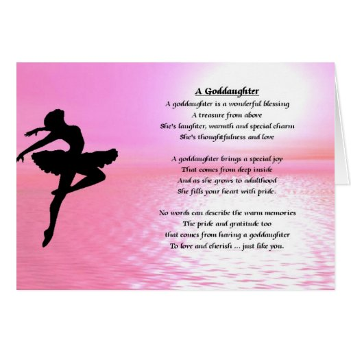 Birthday Quotes Goddaughter: Ballerina Goddaughter Poem Greeting Cards