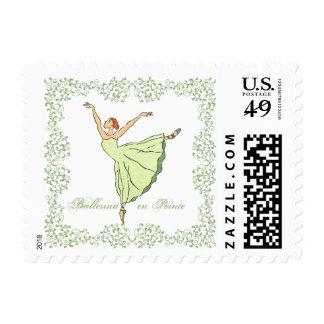 Ballerina Grace en Pointe Postage