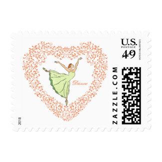 Ballerina Grace Heart Postage