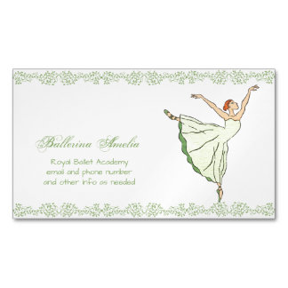 Ballerina Grace Magnetic Business Card